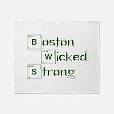 boston-wicked-strong-break-green Throw Blanket