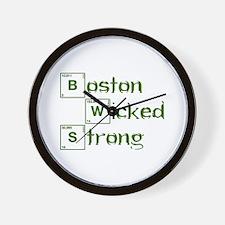 boston-wicked-strong-break-green Wall Clock