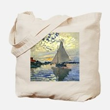 Monet - Sailboat at Le Petit-Gennevillier Tote Bag