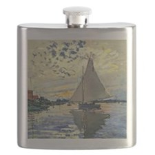 Monet - Sailboat at Le Petit-Gennevilliers Flask