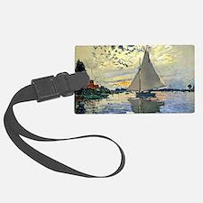 Monet - Sailboat at Le Petit-Gen Luggage Tag