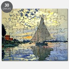 Monet - Sailboat at Le Petit-Gennevilliers Puzzle