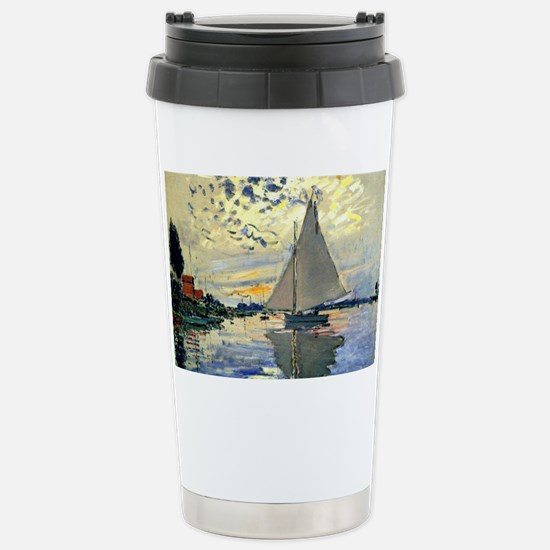 Monet - Sailboat at Le Petit-Ge Stainless Steel Tr