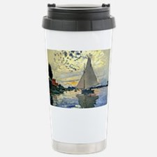 Monet - Sailboat at Le Petit-Ge Travel Mug