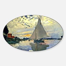 Monet - Sailboat at Le Petit-Gennev Decal