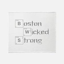 boston-wicked-strong-break-gray Throw Blanket
