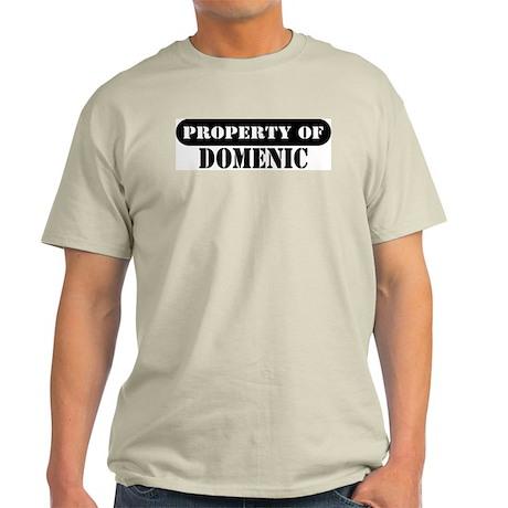 Property of Domenic Ash Grey T-Shirt