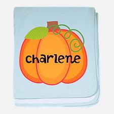 Personalized Halloween Pumpkin baby blanket