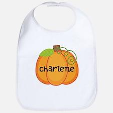 Personalized Halloween Pumpkin Bib