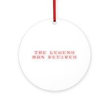LEGEND-HAS-RETIRED-kon-red Ornament (Round)