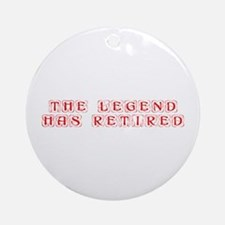 LEGEND-HAS-RETIRED-kon-red Ornament (Round)