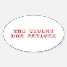 LEGEND-HAS-RETIRED-kon-red Decal