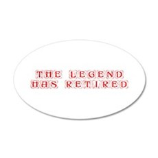 LEGEND-HAS-RETIRED-kon-red Wall Decal