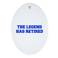 LEGEND-HAS-RETIRED-FRESH-BLUE Ornament (Oval)