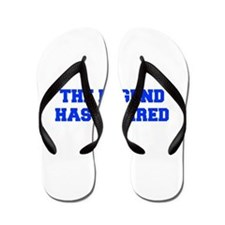 LEGEND-HAS-RETIRED-FRESH-BLUE Flip Flops