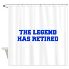 LEGEND-HAS-RETIRED-FRESH-BLUE Shower Curtain