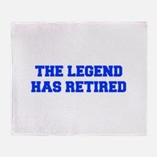 LEGEND-HAS-RETIRED-FRESH-BLUE Throw Blanket