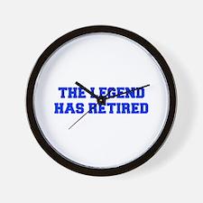 LEGEND-HAS-RETIRED-FRESH-BLUE Wall Clock