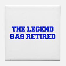 LEGEND-HAS-RETIRED-FRESH-BLUE Tile Coaster
