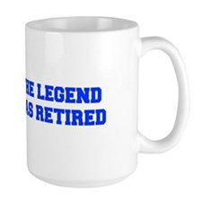 LEGEND-HAS-RETIRED-FRESH-BLUE Mugs