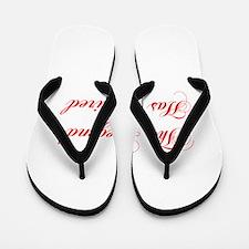 LEGEND-HAS-RETIRED-cho-red Flip Flops