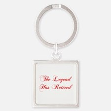 LEGEND-HAS-RETIRED-cho-red Keychains