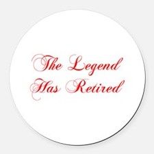 LEGEND-HAS-RETIRED-cho-red Round Car Magnet