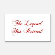 LEGEND-HAS-RETIRED-cho-red Rectangle Car Magnet