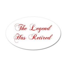 LEGEND-HAS-RETIRED-cho-red Wall Decal