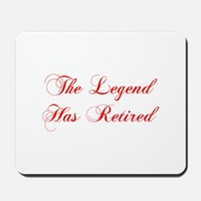 LEGEND-HAS-RETIRED-cho-red Mousepad