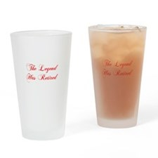 LEGEND-HAS-RETIRED-cho-red Drinking Glass