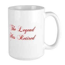 LEGEND-HAS-RETIRED-cho-red Mugs
