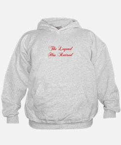 LEGEND-HAS-RETIRED-cho-red Hoodie