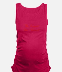 LEGEND-HAS-RETIRED-cho-red Maternity Tank Top