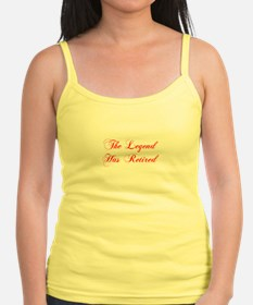LEGEND-HAS-RETIRED-cho-red Tank Top