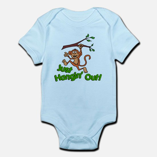 Just Hangin Out Monkey Body Suit