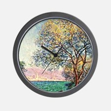 Monet - Antibes in the Morning, Claude  Wall Clock