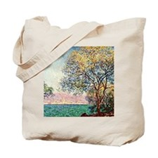 Monet - Antibes in the Morning, Claude Mo Tote Bag