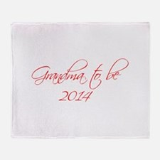 grandma-to-be-2014-scr-red Throw Blanket