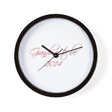 grandma-to-be-2014-scr-red Wall Clock