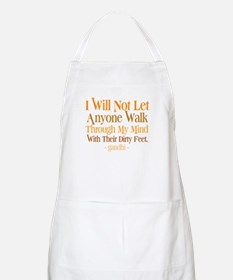 Through My Mind With Dirty Feet Apron