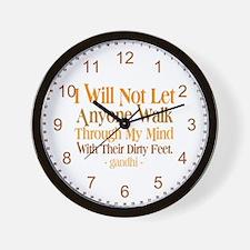Through My Mind With Dirty Feet Wall Clock