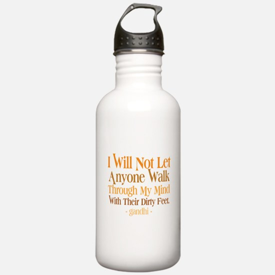 Through My Mind With Dirty Feet Sports Water Bottle