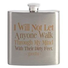 Through My Mind With Dirty Feet Flask