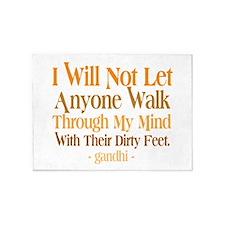 Through My Mind With Dirty Feet 5'x7'Area Rug