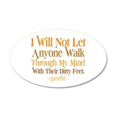 Through My Mind With Dirty Feet Wall Decal
