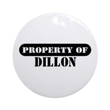 Property of Dillon Ornament (Round)