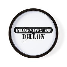 Property of Dillon Wall Clock