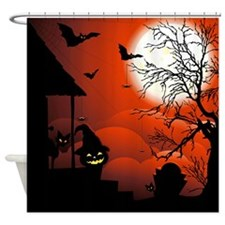 Halloween Bloody Moonlight Nightmare Shower Curtai