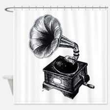Gramophone Shower Curtain